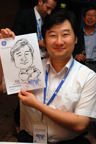 Caricature live sketching for GE Healthcare MI Symposium 9