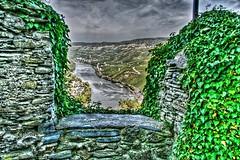 A dark sky above river Mosel (Ridikuel) Tags: castle river eos 350d rebel xt hdr mosel qtpfsgui