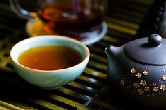 Afternoon Tea (Stacey~) Tags: cup tea chinese tray teapot yixing teacup sandalwood gongfu celadon puerh explored wrongfu