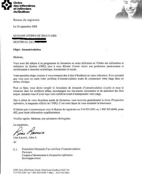 lettre de lOIIQ