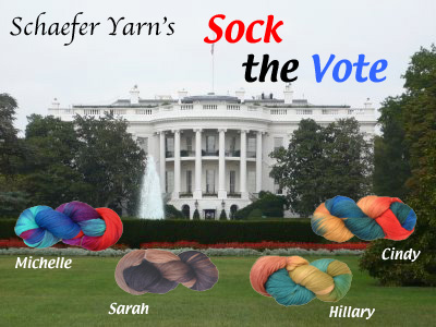 Schaefer Yarn's Sock The Vote