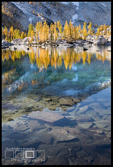 Golden Light (Adrian Klein) Tags: blue autumn light lake snow fall water yellow canon photography gold washington klein rocks aqua northwest under stuart cobblestone fairy alpine granite land adrian wilderness larches enchantment leavenworth dusting colchuck ostrellina