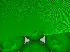 Circle packing (fdecomite) Tags: green circle geometry packing sphere math inversion algorithm povray