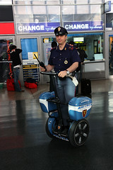 Drive-by-Police (sandeep thukral) Tags: italy rome canon europe police segway xsi tamron1750 450d coppoliceofficer