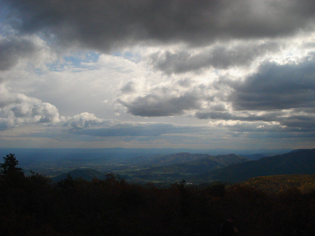 Clouds over Old Rag Mtn