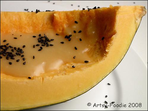 acorn squash with miso glaze