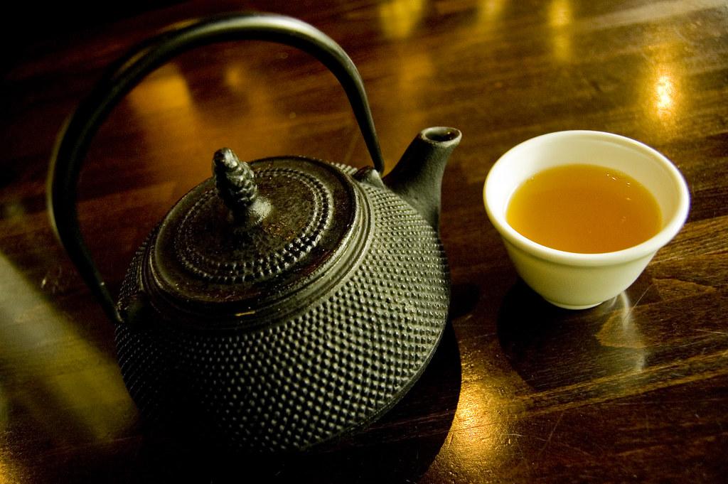 This green tea is orange by mendhak, on Flickr