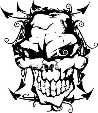 Tattoo Tribal Skull Designs