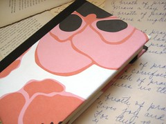 Poppies Journal/Notebook - Medium (boundto) Tags: pink brown notebook book journal poppy poppies etsy bound boundto