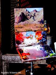 Oil Painting (phil_sidenstricker) Tags: wood art paint creative surreal naturallight canvas oil oilpainting inthestudio donotcopy colorphotoaward betterthangood artistshiddenworld goldstaraward valleyofthesunphoenixmetro modernimpressionists upcoming:event=981998 southmountainfarmphoenixazusa
