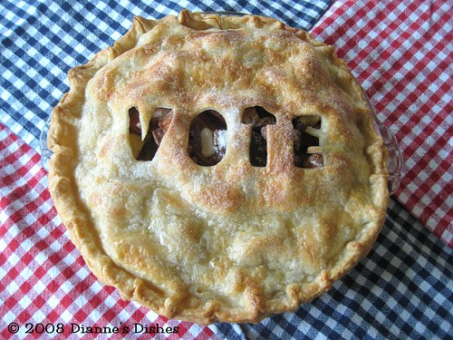 Election Day Apple Pie: Baked