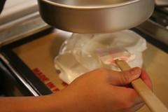 """Using my 8"""" pie pan as a measuring tool"""