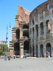 Coliseum exterior with outer and inner walls