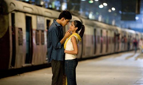 "Del Patel and Freida Pinto in ""Slumdog Millionaire"""