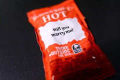 Taco Bell Will You Marry Me 11-12-08 (stevendepolo) Tags: food hot macro me bell you sauce fast will taco condiment packet spicy  sig marry  seg trou trouwen casar  gifte heiraten kawin priodi  naimisiin hn gifta marier  kt  sposare macromondays casarse  menn giftast 2008yip evlenmek psadh     abielluma cstori hzasodni jiewu kuoa magpakasal martohem oenit oeni poroiti polubi precties tuoktis vjenati