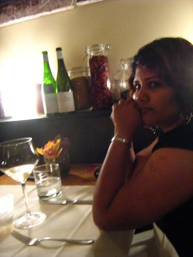 Maha during dinner