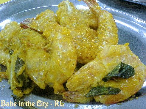 SL - salted egg yolk prawns RM20