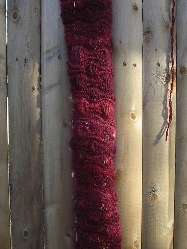 Christmas Scarf in Progress