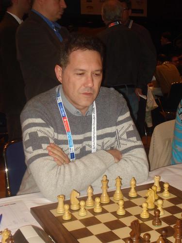 El GM Miguel Illescas, 3r tauler dEspanya