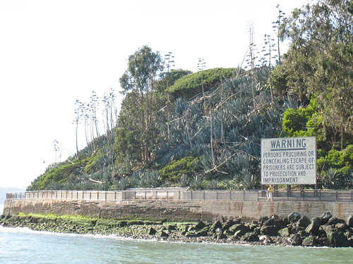 Alcatraz Island - Approaching the dock