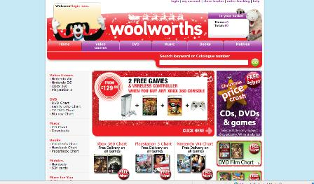 Woolworths website