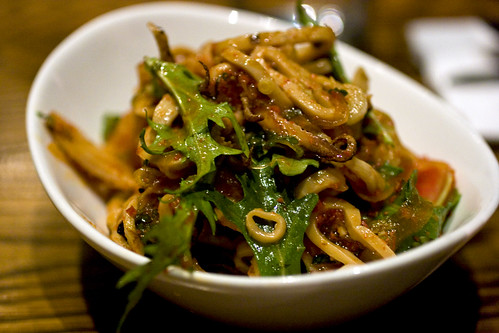 Charred squid salad