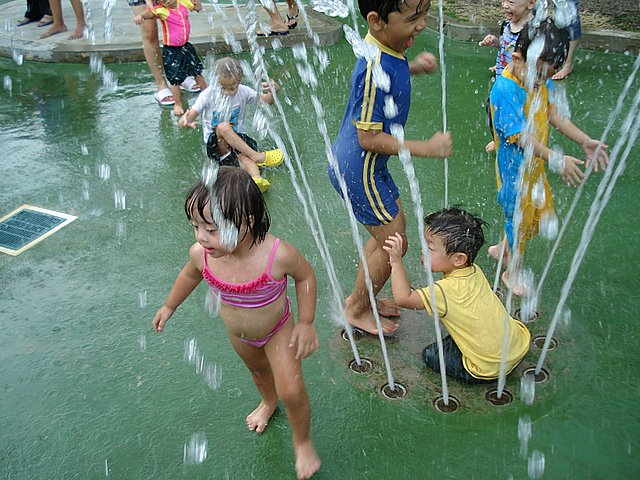 The kids loved the waterplay area