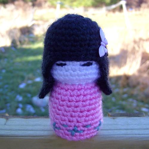 HandmadeKitty: Japanese doll kokeshi amigurumi Crochet pattern | 500x500