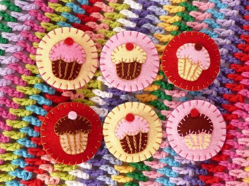 Cupcake Hairclips