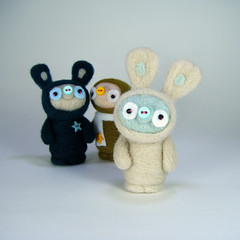 Ballywink (Kit Lane) Tags: cute bunny wool mushroom felted pig teal felt odd needle kawaii