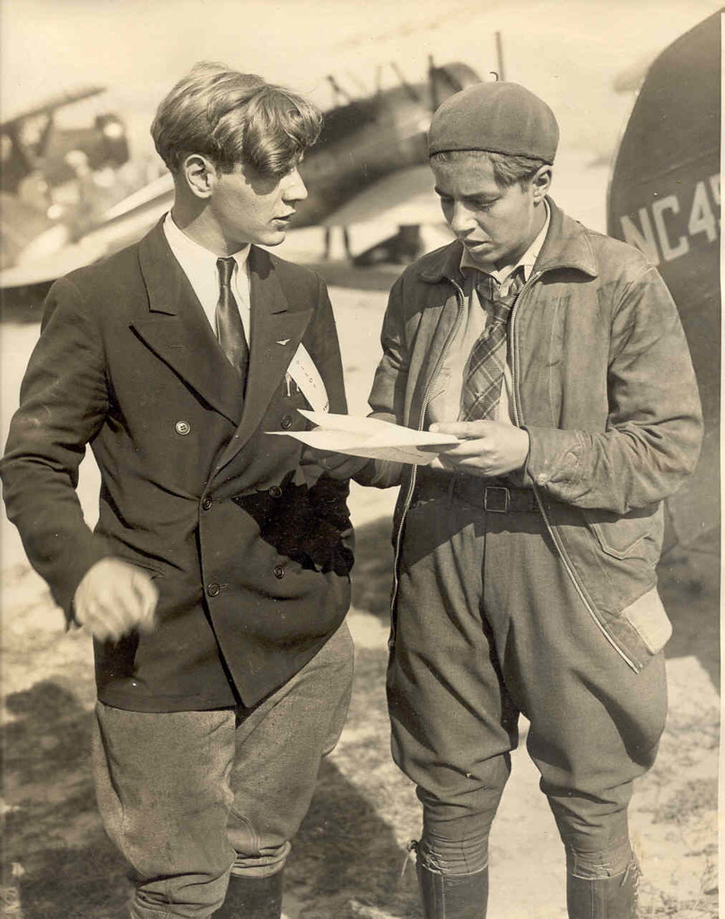 Eddie August Schneider (1911-1940) and Nancy Hopkins (1909–1997) at the 1930 National Air Tour in Detroit, Michigan