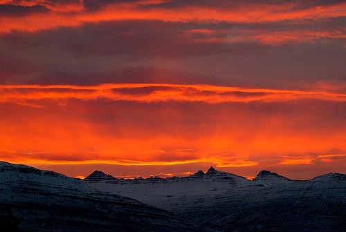 Sólsetur á Breiðdalsvík