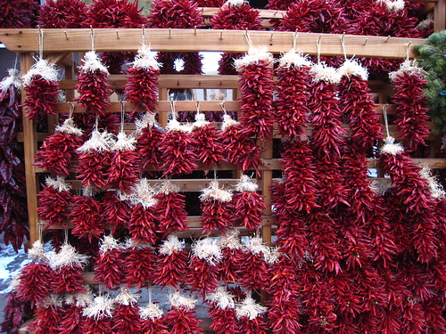 Ristras waiting for buyers