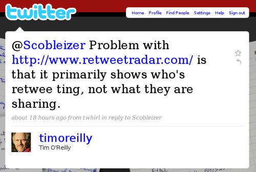 Twitter tweet from timoreilly
