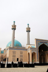 New Mosque at the Islamic School (Madrasah) - Kabul, Afghanistan (jrozwado) Tags: afghanistan tile asia madrasah minaret mosque kabul islamic