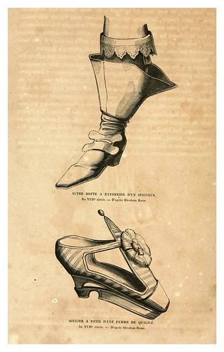 007-Calzado siglo XVII-Histoire de la chaussure depuis l'antiquité-1862- Paul Lacroix y Alphonse Duchesne