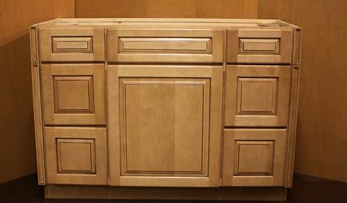 """Kraftmaid Maple Bathroom Vanity Sink Base Cabinet 48""""w"""