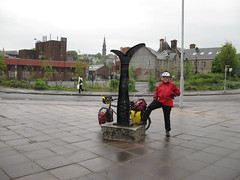 On the Sustrans bike route from Paisley to Glasgow