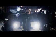 Lap of Honour (James Yeung) Tags: street wet rain bike night movie candid helmet cinematic