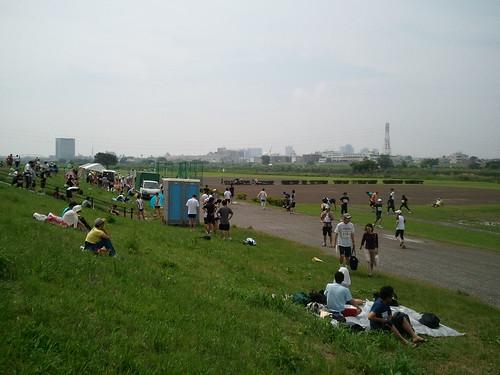 さー、天気いいぞ!マラソン大会なう。