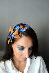 Novinky erven/news for june (Jane Bond OriginalFashion) Tags: flowers whimsy feathers fairy headband headpiece janebond fascinator elenka elenky janebondcz