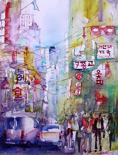 Street of Seoul South Korean by chrisaqua47