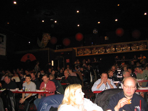 The crowd at the Hollywood Blvd. Theatre