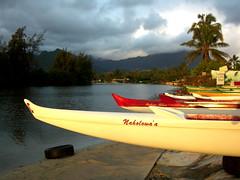 Boats at Kailua Beach (desert2ride) Tags: beach boats hawaii oahu canoes kailua oahau