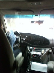 """View from the back of the bus (Geo's """"The Gal-0-Re-ah"""") Tags: driving ambulance medics"""