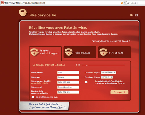 Douwe Egberts - Fak� Service - screenshot - for web