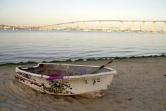 Coronado Bridge, Row Boat (WuChing.) Tags: california bridge sunset boat sandiego coronado 1870mm coronadobridge nikond80