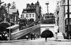 Crocker Mansion next to tunnel and Angels Flight