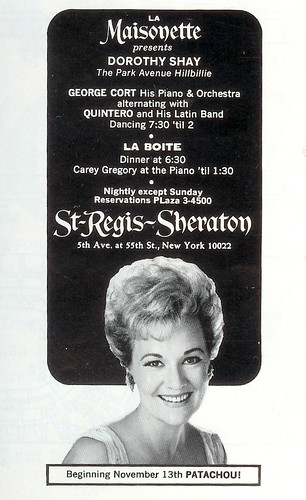 Dorothy Shay - St Regis 1967 (by senses working overtime)