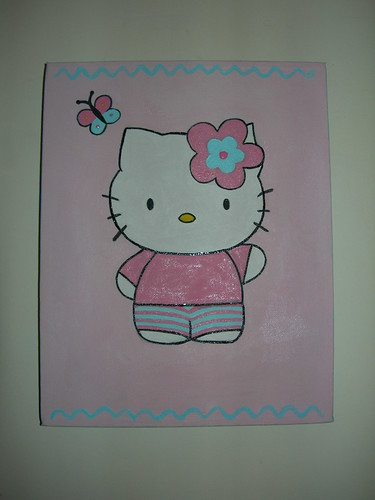 Hello Kitty com borboleta